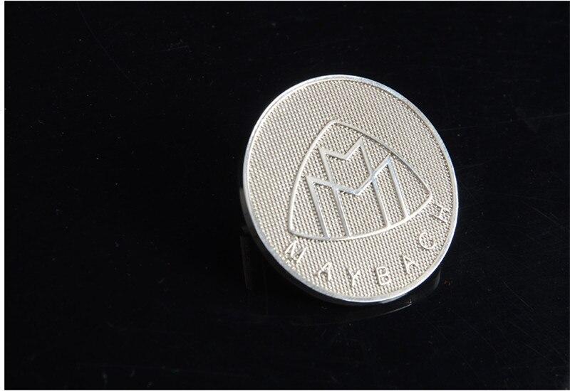 1pcs OEM Quality for MAYBACH Car head Badge logo Emblem Badge For benz Grlle emblem hood emblem badge sticker diy car 3d explorer fixed letters hood emblem chrome logo badge sticker for 2011 2012 2013 2014 2015 2016 ford explorer sport