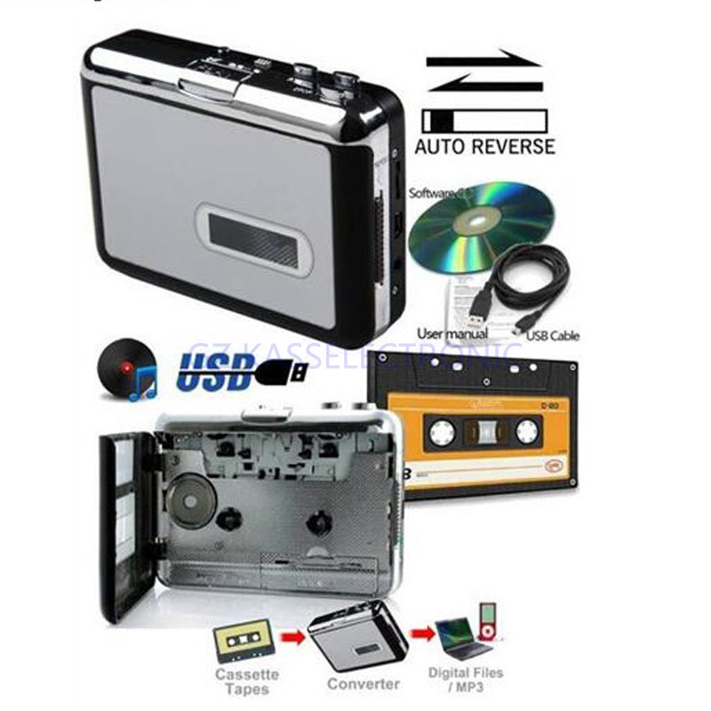 2017 new audio tape cassette recorder convert old cassette tape to mp3 via computer, work for Windows7 8 MAC OS Free Shipping