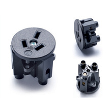 5PCS Black CE Rohs Round Industry Multifunctional outlet 250V 10A Australian standard AC Power Socket