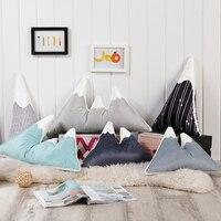 Fashion Lovely Mountain Peak Shape Cushion Pillow Bed Decoration Calm Sleep Dolls Plush Toys Nordic Kids