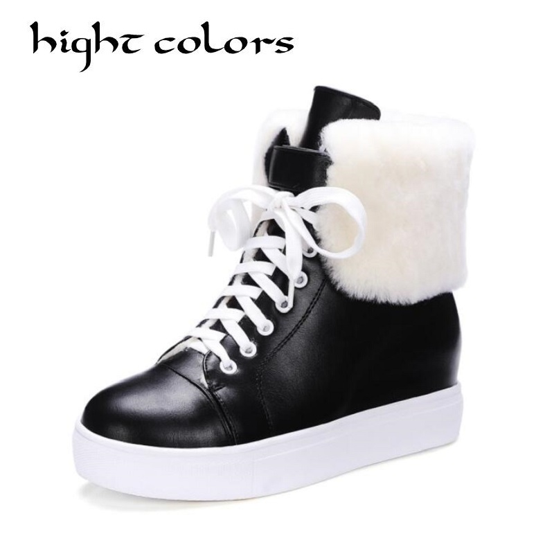 New Fashion Fur Female Warm Ankle Boots Women Snow Boots And Autumn Winter Women Thick Platform Shoes Casual Boots zorssar 2017 new classic winter plush women boots suede ankle snow boots female warm fur women shoes wedges platform boots