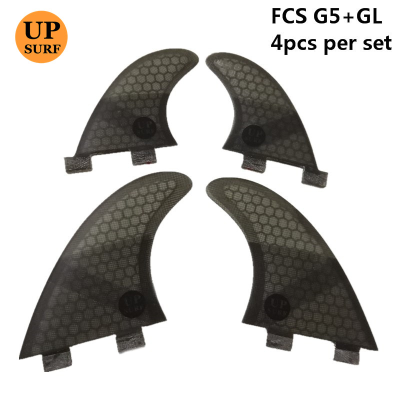Surf  FCS G5+GL Fin Honeycomb Fibreglass Surfboard Fins Quilhas Fins FCS Quad Sets Quad Fins
