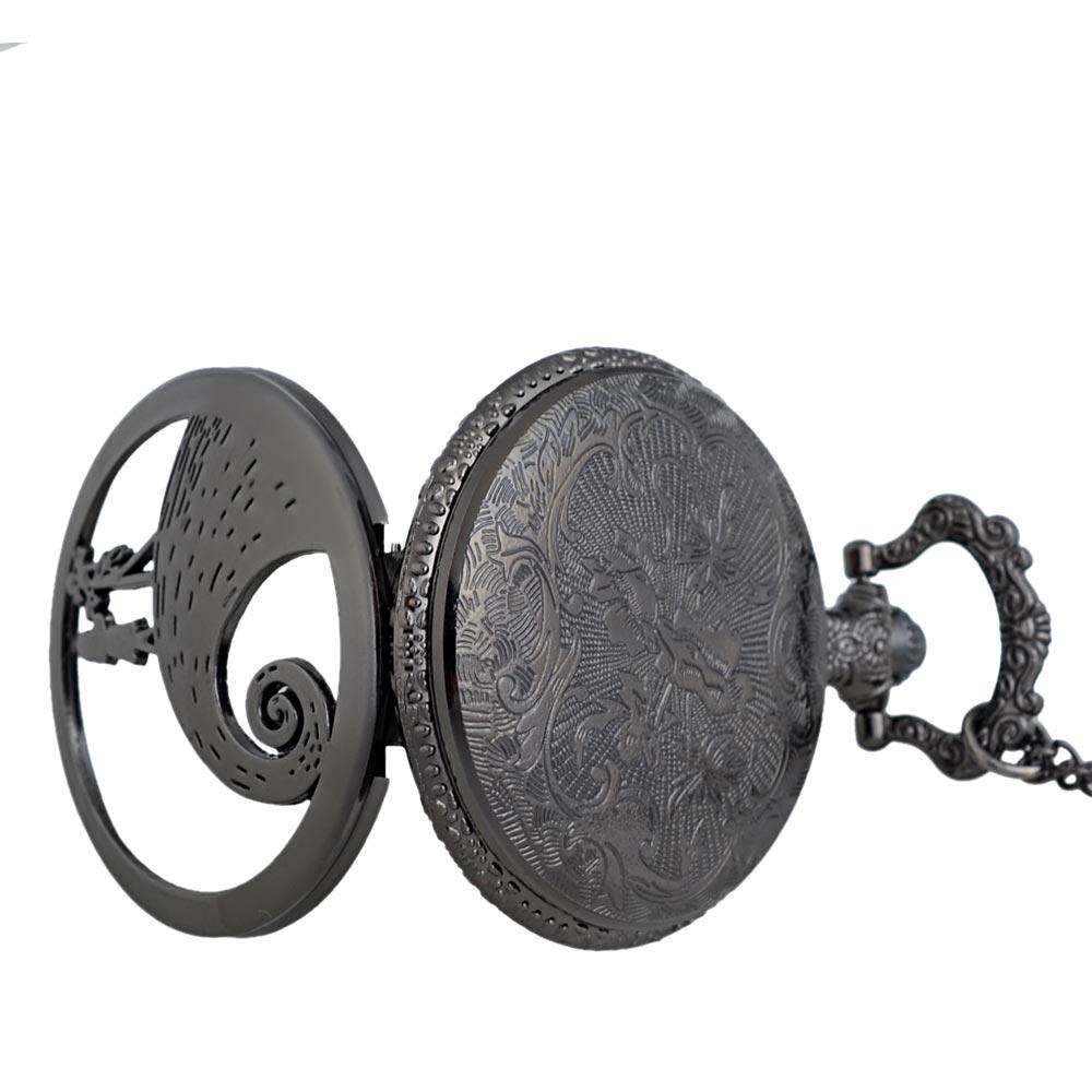34945d824 Jack Skellington Pocket Watch Tim Burton Movie Kid Toys Free Chain | Aspir