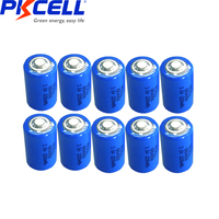 10PCS PKCELL 1/2 AA er 14250 battery 3.6v 1200MAH lithium batteries replace for LS14250 LS 14250 primary battery for camera  1