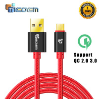 5V2A Micro USB Cable,Tiegem Fast Charging Mobile Phone USB Charger Cable 1M 2M 3M Data Sync Cable for Samsung HTC LG Android