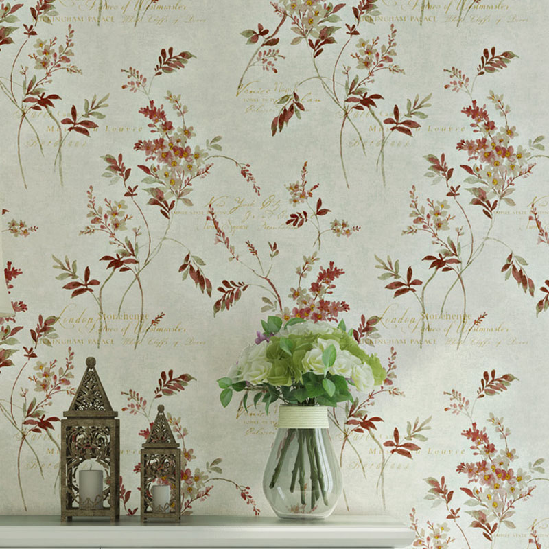 Vintage American Rustic Trea Branch leaf Wallpaper for Walls 3D Mural Non-woven Wall Paper Roll Living Room Bedroom Wallcovering