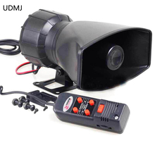 Motorcycle Car Auto Vehicle Van Truck 5 Sound/Tone electronic Loud Horn/Siren Police Firemen Ambulance Warning Alarm Loudspeaker цена