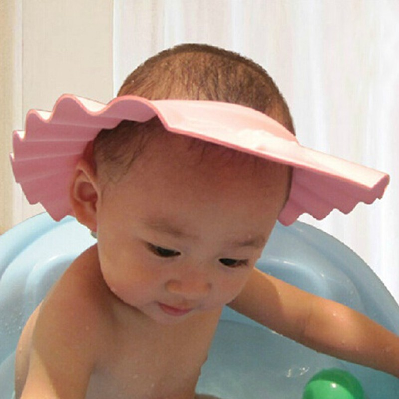 Aliexpress.com : Buy 1Pcs New hot sale baby bath hat 3 colors ...