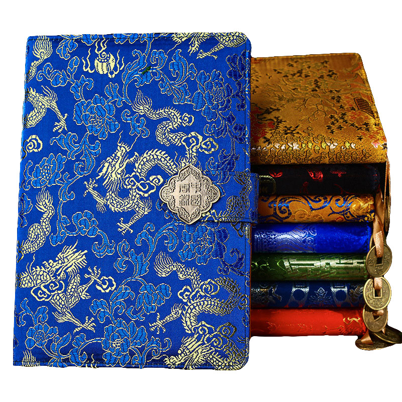 50 Sheets Classic Chinese Style Carved Notebook Creative Chinese Dragon Brocade Notepad Fashion Business Gift Notebook