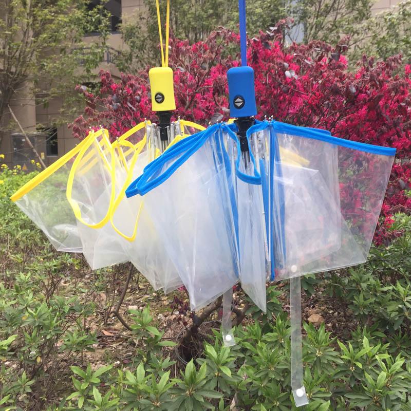 Caurspīdīga automātiskā lietussarga lietus sievietes izvelkamās - Mājsaimniecības preces - Foto 3