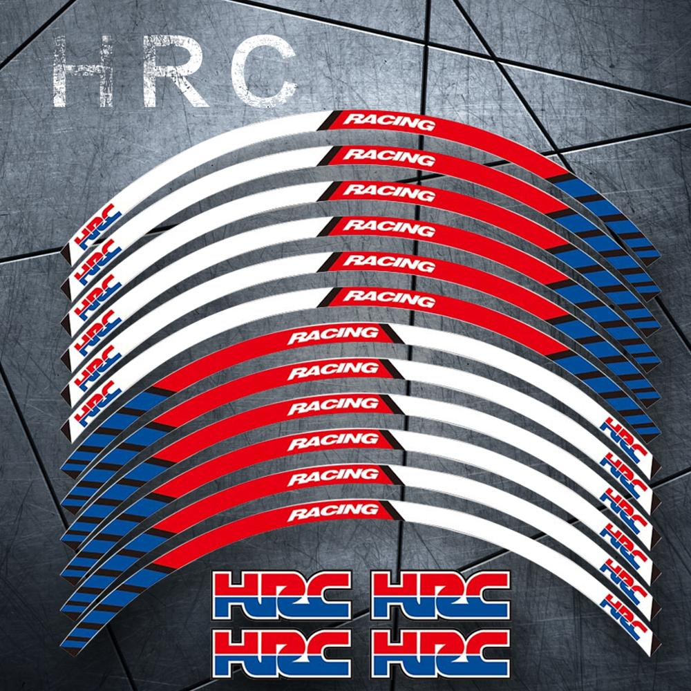 Motorcycle Wheel Decals Reflective Stickers Rim Stripes 17inch for Honda Racing HRC CBR250RR CBR400RR CBR600RR CBR1000RR