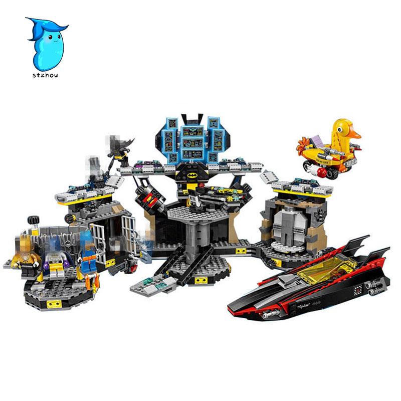 StZhou 07052pcs Compatible with Legos batman Lepin super heroes movie blocks Batcave Break-in toys for children building blocks lepin 07052 1047pcs super heroes batman batcave break in diy model building blocks gifts batgirls movie toys compatible 70909