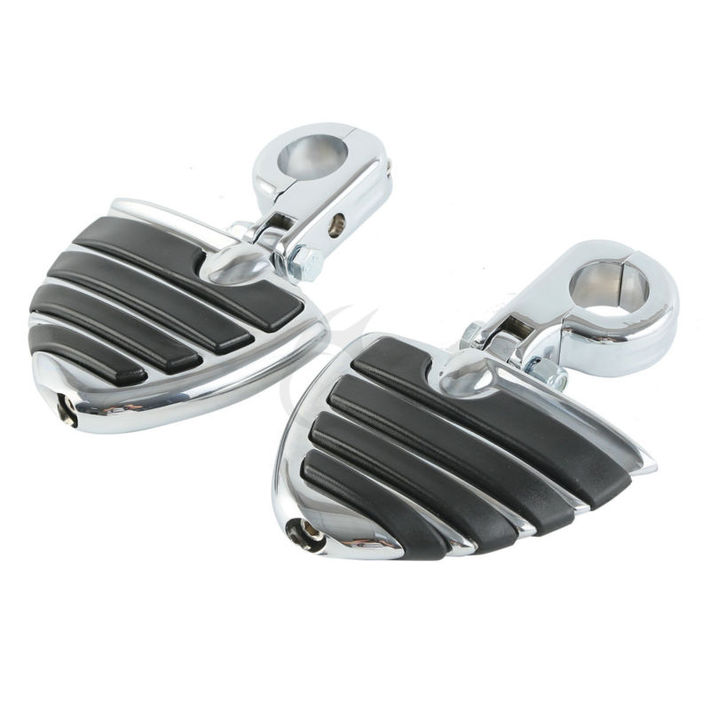 Chrome Wing Style Foot Pegs Male Mount For Harley H-D Touring Road Glide KingChrome Wing Style Foot Pegs Male Mount For Harley H-D Touring Road Glide King