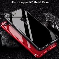Hot Sale For Oneplus 5T Case Luxury Glitter Slim Hard Aluminum Metal Frame Armor Full Body