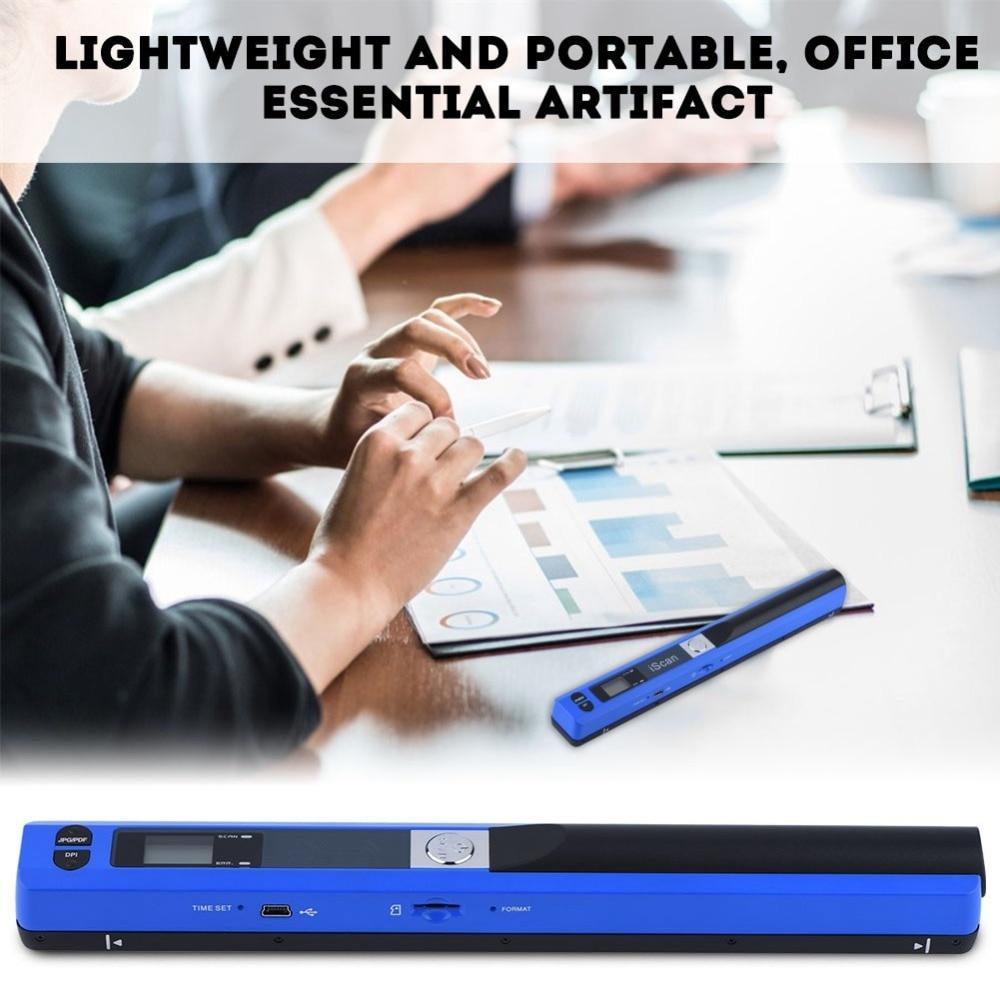 Newest Portable Handheld Scanner 900DPI JPG/PDF Formate A4 Document Book Pen Handheld USB Scanner Mini Cordless A4 Scanner psn 415 mini high resolution handy scanner handheld scanner
