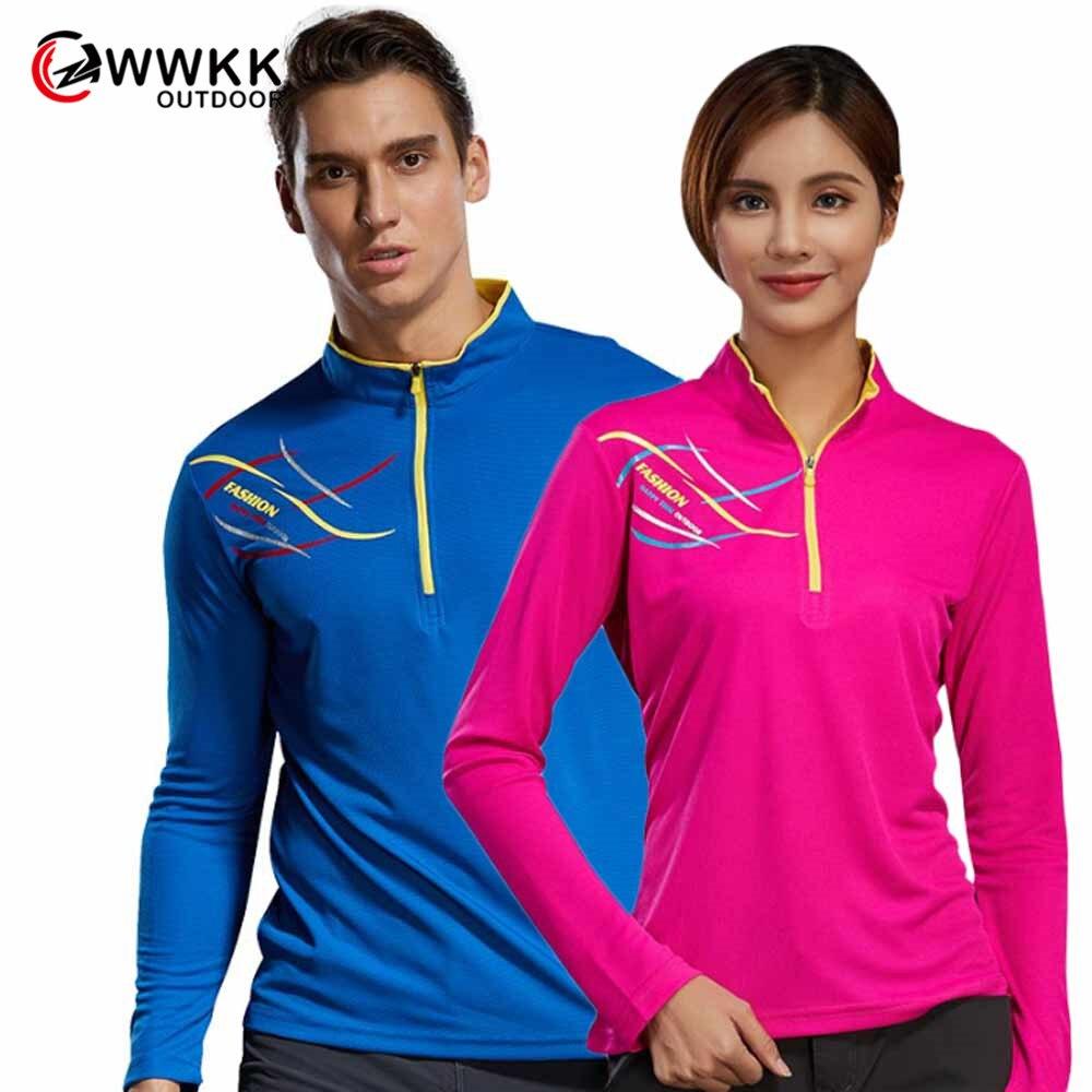 Мужская и женская футболка с круглым вырезом WWKK, быстросохнущая дышащая легкая футболка для фитнеса, длинные футболки для походов на открыт...