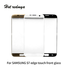 10pcs Original For Samsung Galaxy S7 Edge Touch Screen Front Glass Touch Panel Cover Front Outer Glass for Galaxy S7 Edge G935