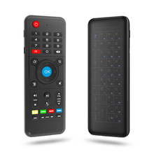 2.4G Wireless Remote Control H1 Standard Edition Double-faced Wireless Keyboard with IR Learning Function for Android TV Box Etc
