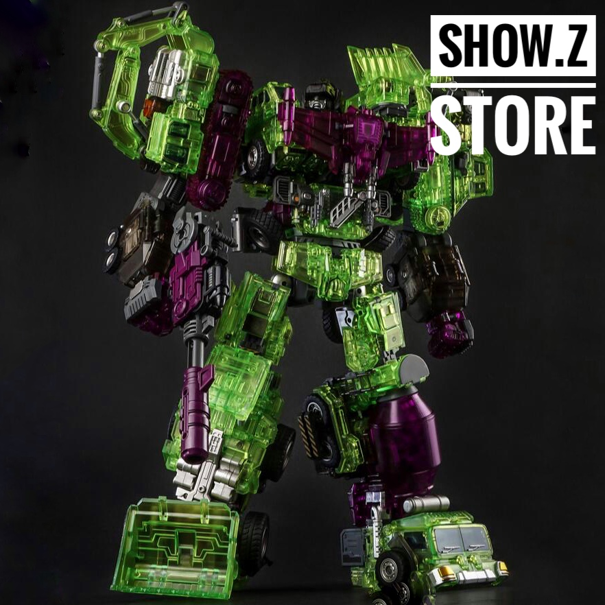 [Show.Z Store] Generation Toy GT GT-01GS Gravity Builder Devastator Green Shadow Clear Vesion Set of 6 Transformation green top gs 0161k 18ca