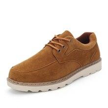 2017 Fashion Warm Mens Flats Shoes Casual Male Footwear For Men Suede Leather Flat Men's Fashion Zapatos Hombre Platform Shoes