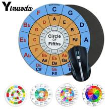 Yinuoda New Design Circle of Fifths Rubber PC Computer Gaming mousepad DIY High-end Protector gaming mousepad for music fans(China)