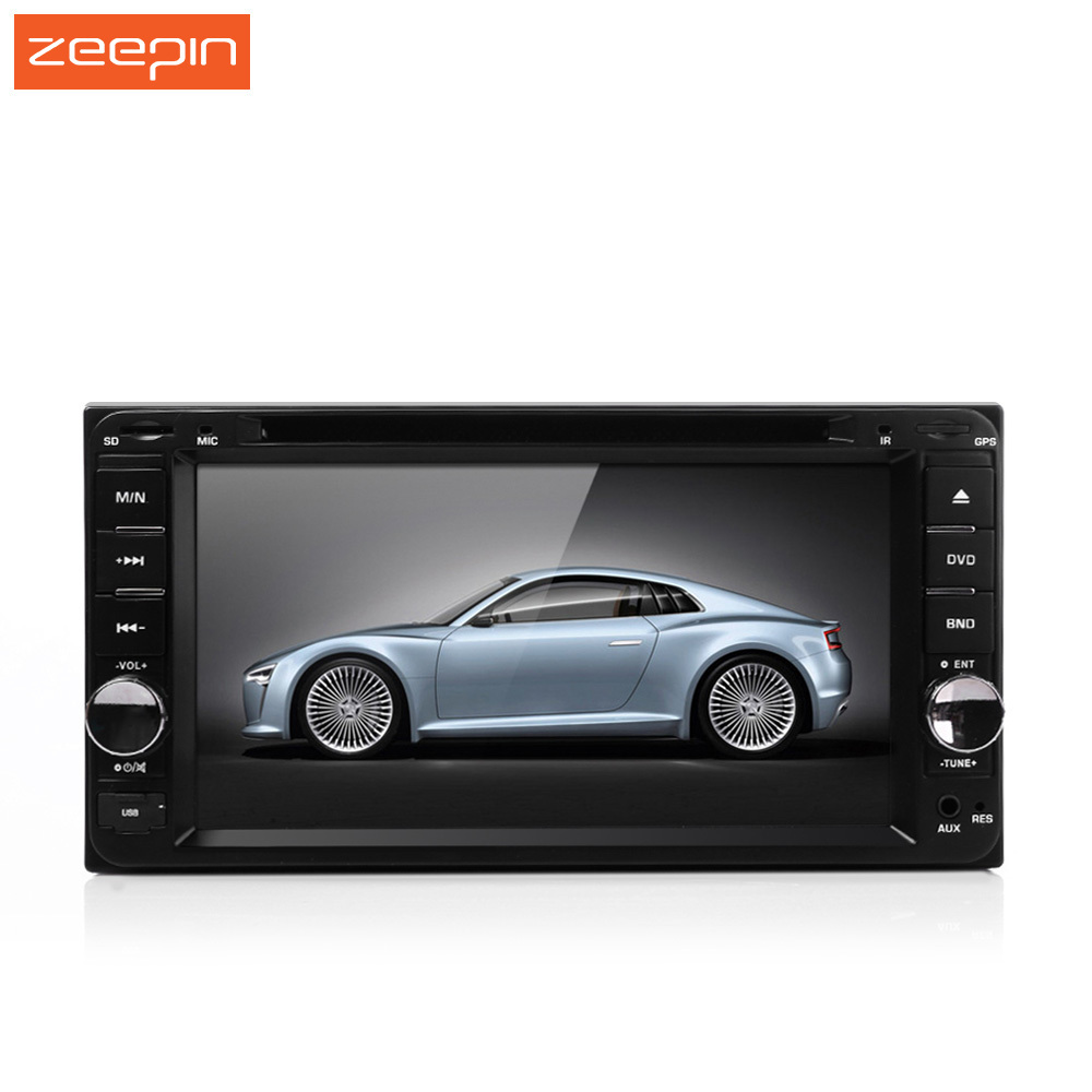 7 Inch HD 2 Din Car DVD Player Russian Portuguese Spainese, FM Bluetooth Mic Rearview In Dash Stereo Radio MP4 Video Player plastic mp4 player shell mold makers