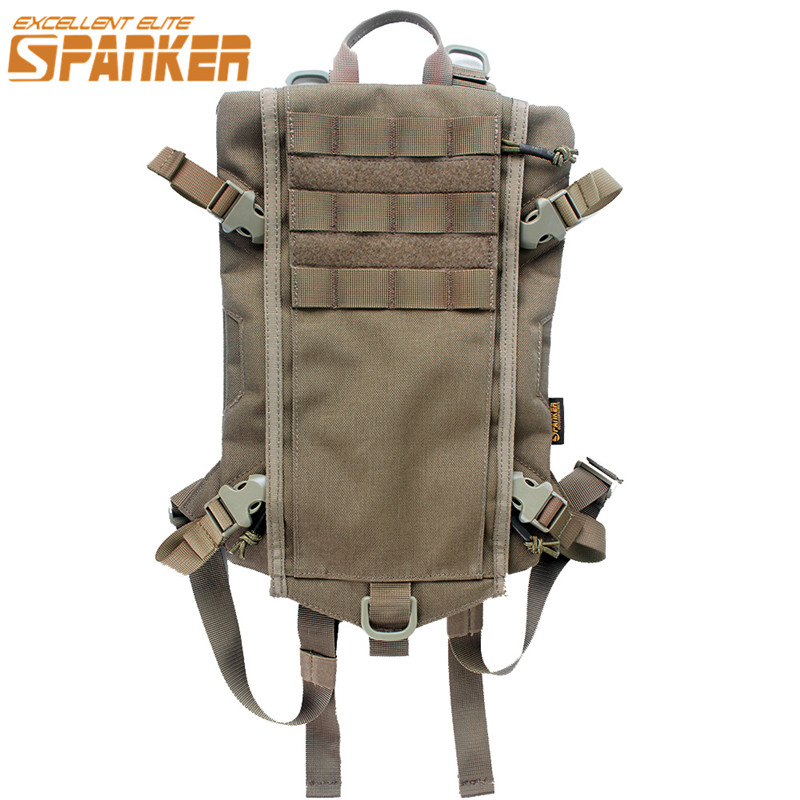 SPANKER 1050D Nylon 2.5L Molle Hydration Backpack Armor Water Bag Outdoor Camping Quick-opening Camel Water Bladder Bag baofeng uvb2 plus vhf uhf dual band programmable walkie talkie two way radio fm transceiver handheld dual standby interphone with flashlight