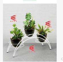 European iron art flower frame condole flowerpot indoor stair green shelf