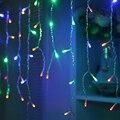 4 M 96 leds LED Carámbano Luz de la Secuencia de Hadas de Luz Del Árbol de Navidad Adornos de Navidad Boda Del Jardín Al Aire Libre Fiesta de navidad Guirnalda
