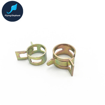 4 Pcs 3/8'' 1/4 Camo Thin Elasticity Hose Flexible Pipe Clamp, 9.5*12.7mm /8*12mm Soft Tubing Clip For OD 12.7-15mm Tube image