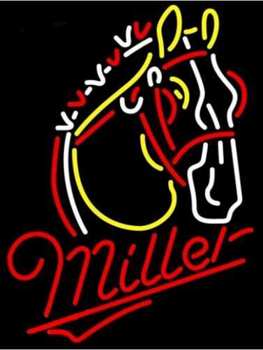 Custom Miller Lite Horse Neon Light Sign Beer Bar