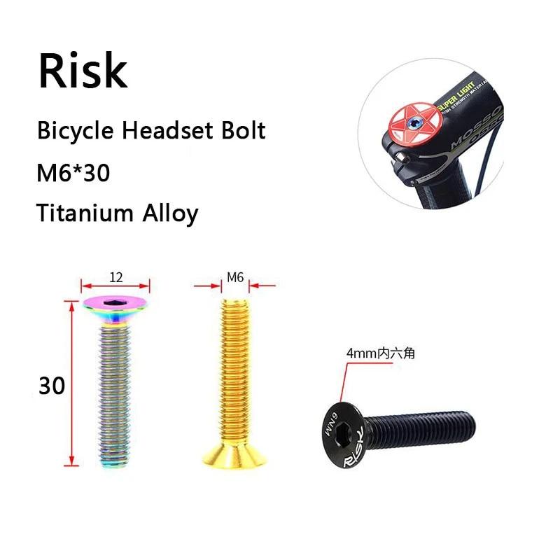 Details about  /10pcs Ti M6 Bolt for Bicycle Headset Brake Bolt Hex Socket Head Bolt Multicolor