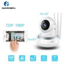 hot deal buy graneywell wi-fi ip camera 1080p 3 antenna mini camera smart night vision videcam baby monitor video surveillance camara ip wifi