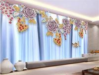 3d Wallpaper Custom Mural Non Woven Photo Water Making 3D Jewelry Decoration Painting 3d Wall Murals