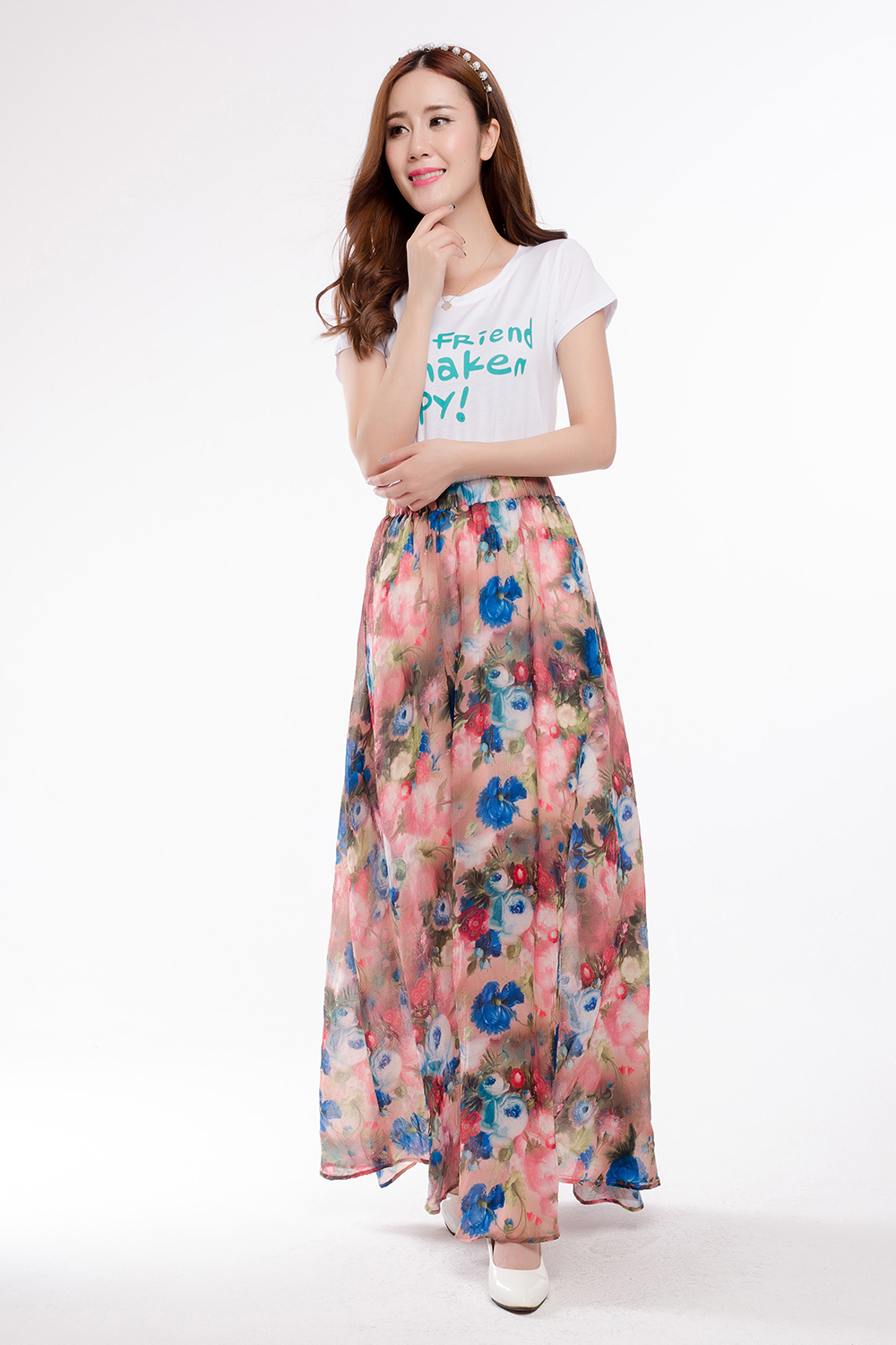 Aliexpress.com : Buy Bohemia Women Floral Print Maxi Skirts ...