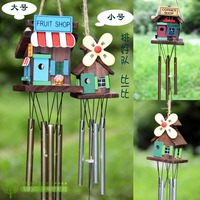 The Cabin Wood Metal Campanula Pastoral Ornaments Door Trim Windmill Small House Bells Gift Wind Chimes