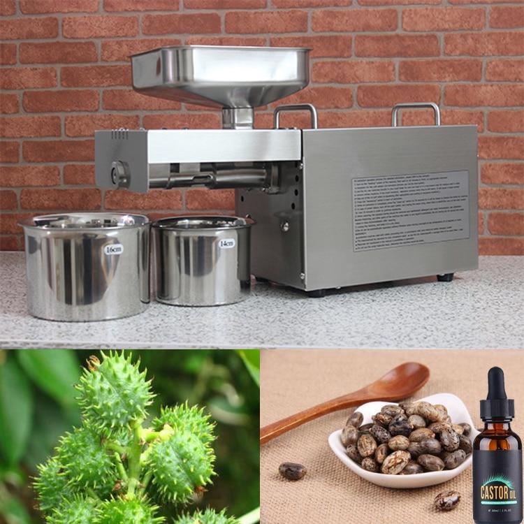 Acier inoxydable automatique presse à huile à froid, l'huile machine de presse à froid, huile de graines de tournesol extracteur, graines de Ricin