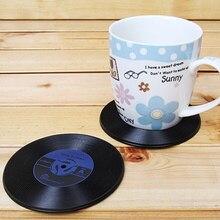 Vinyl record coasters (4 pcs)