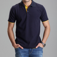 clothing polo homme solid  polo shirt casual men tee shirt tops cotton slim fit 102tbg