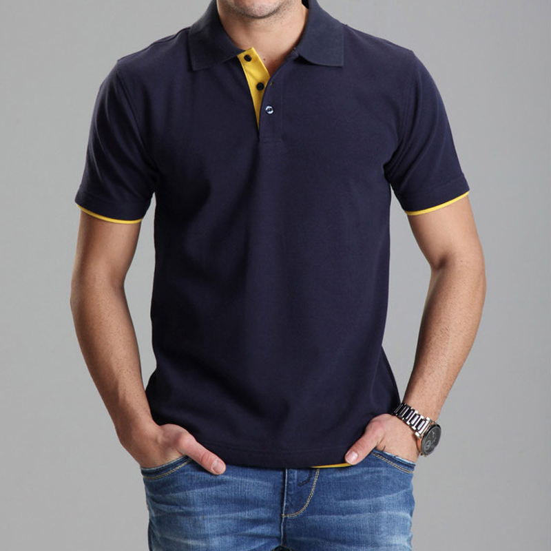 Ropa de marca Polo Homme Solid Polo al por mayor Casual Men Tee Shirt Tops de algodón Slim Fit 102TBG