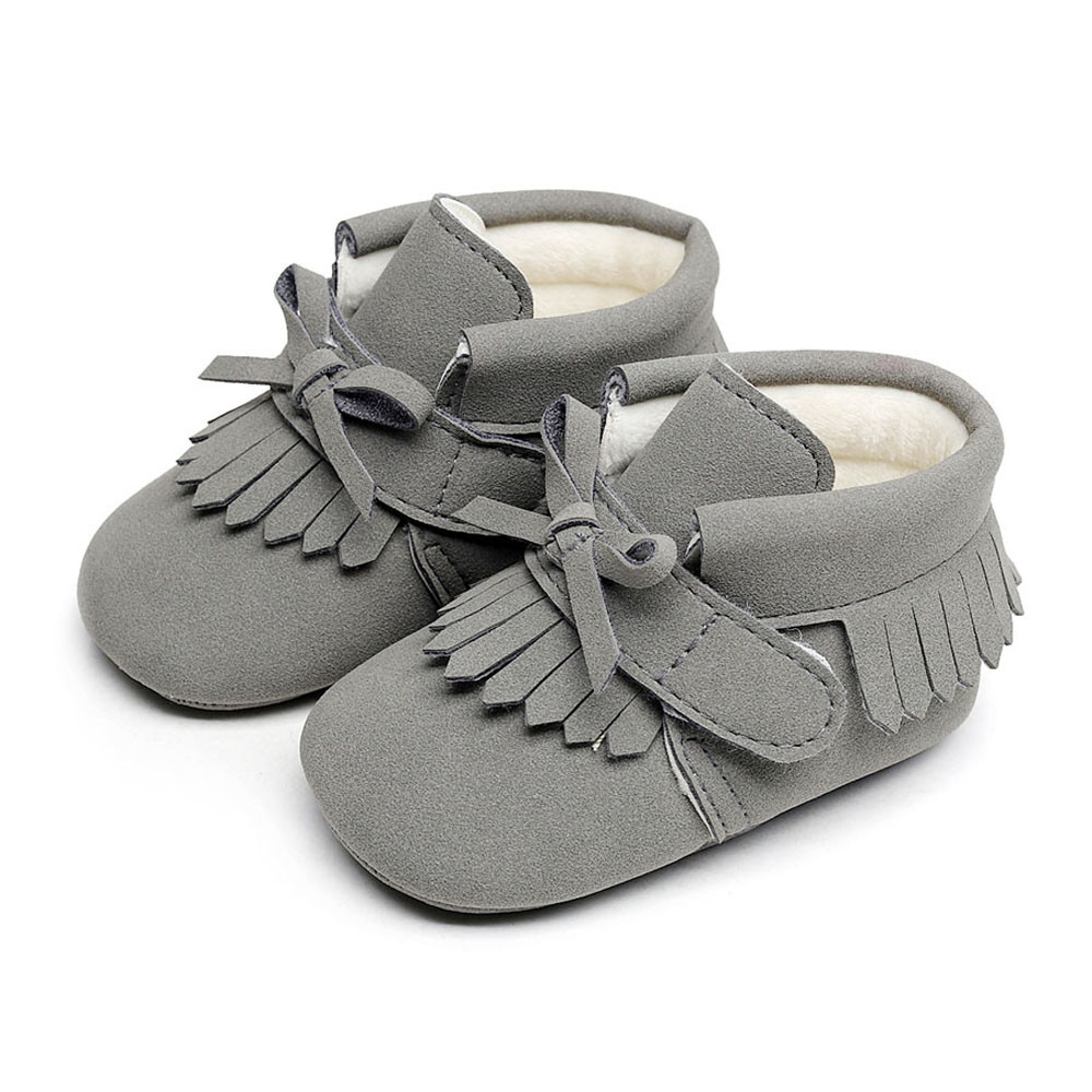3b967512aad2 Fashion Toddler Newborn Baby Boys Girl shoes candy color Crib Winter Boots  Prewalker Warm Shoes bebek