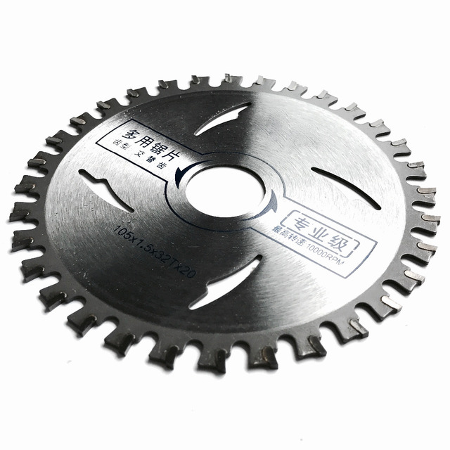 Free shipping of 1PC high quality aluminum cutting 105*1.5*20*32T  TCT saw blade for NF metal aluminum/iron profile cutting