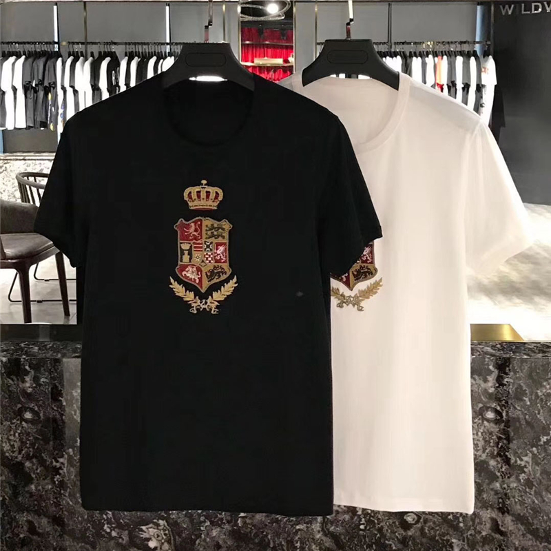 fcc08232 Detail Feedback Questions about 2018 summer new fashion arrival tees royal  embroidery crown print tee t shirt for men women cotton designer brand tee  on ...