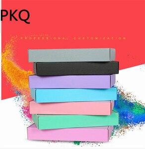 Image 3 - 10 sztuk różowy/czarny/zielony/szary pudełko na papier tektura falista prezent pudełko opakowanie na kosmetyki kartonowe pudełka kartonowe