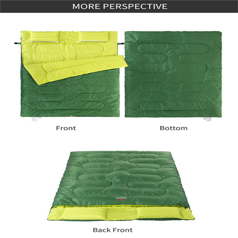Image 5 - Naturehike Couples Double Sleeping Bags Outdoor Camping Hiking Sleeping Bag 2.15m*1.45m Portable Sleeping Bag Pillow-in Sleeping Bags from Sports & Entertainment