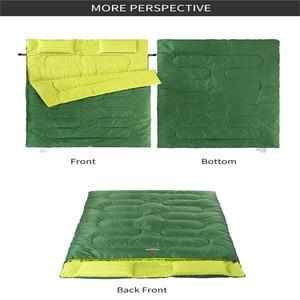 Image 5 - Naturehike Couples Double Sleeping Bags Outdoor Camping Hiking Sleeping Bag 2.15m*1.45m Portable Sleeping Bag Pillow