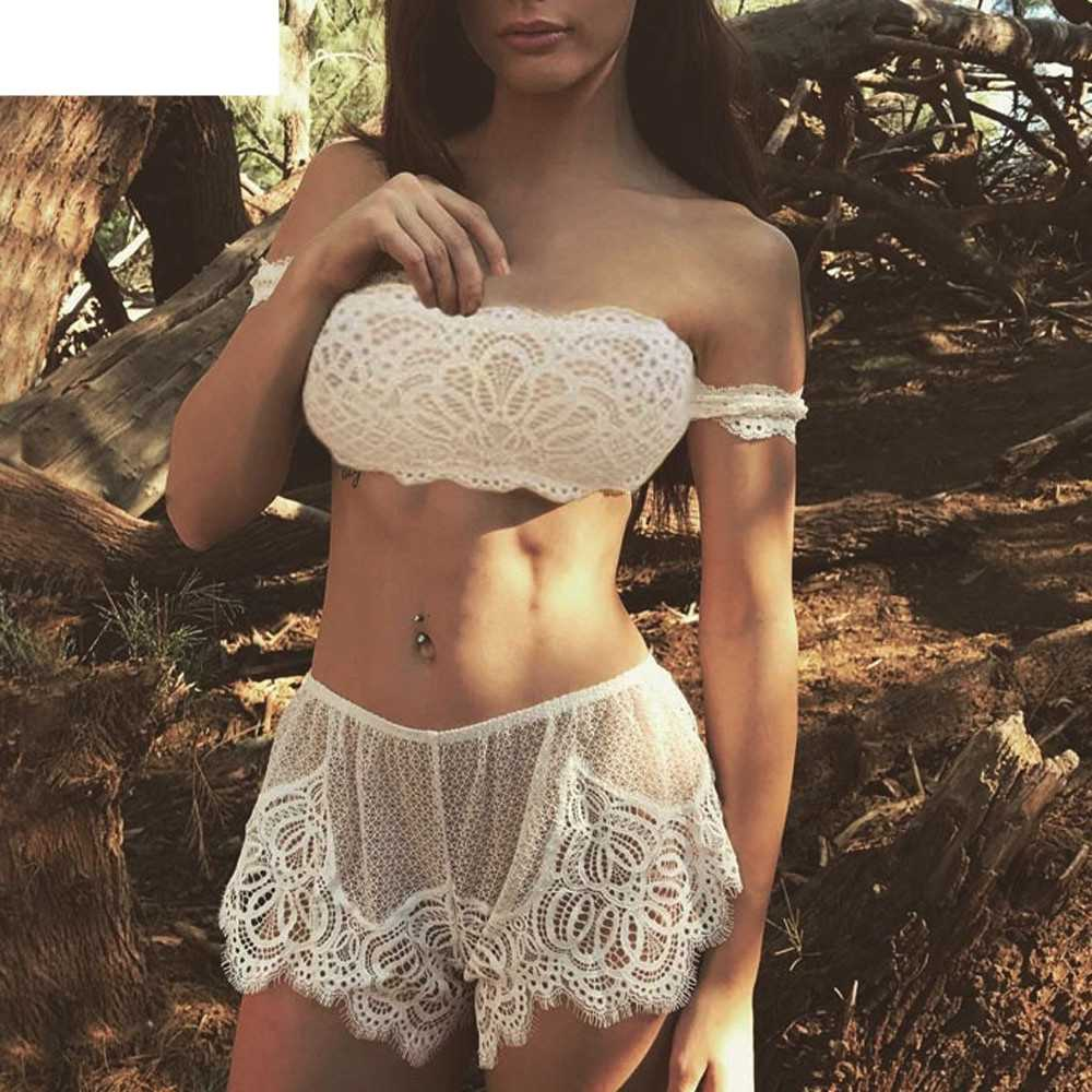 JAYCOSIN Women Girl Tempting Cage Sexy Lace Lingerie Bodice Lingerie Off  Shoulder Set LOVE ... c6bace557