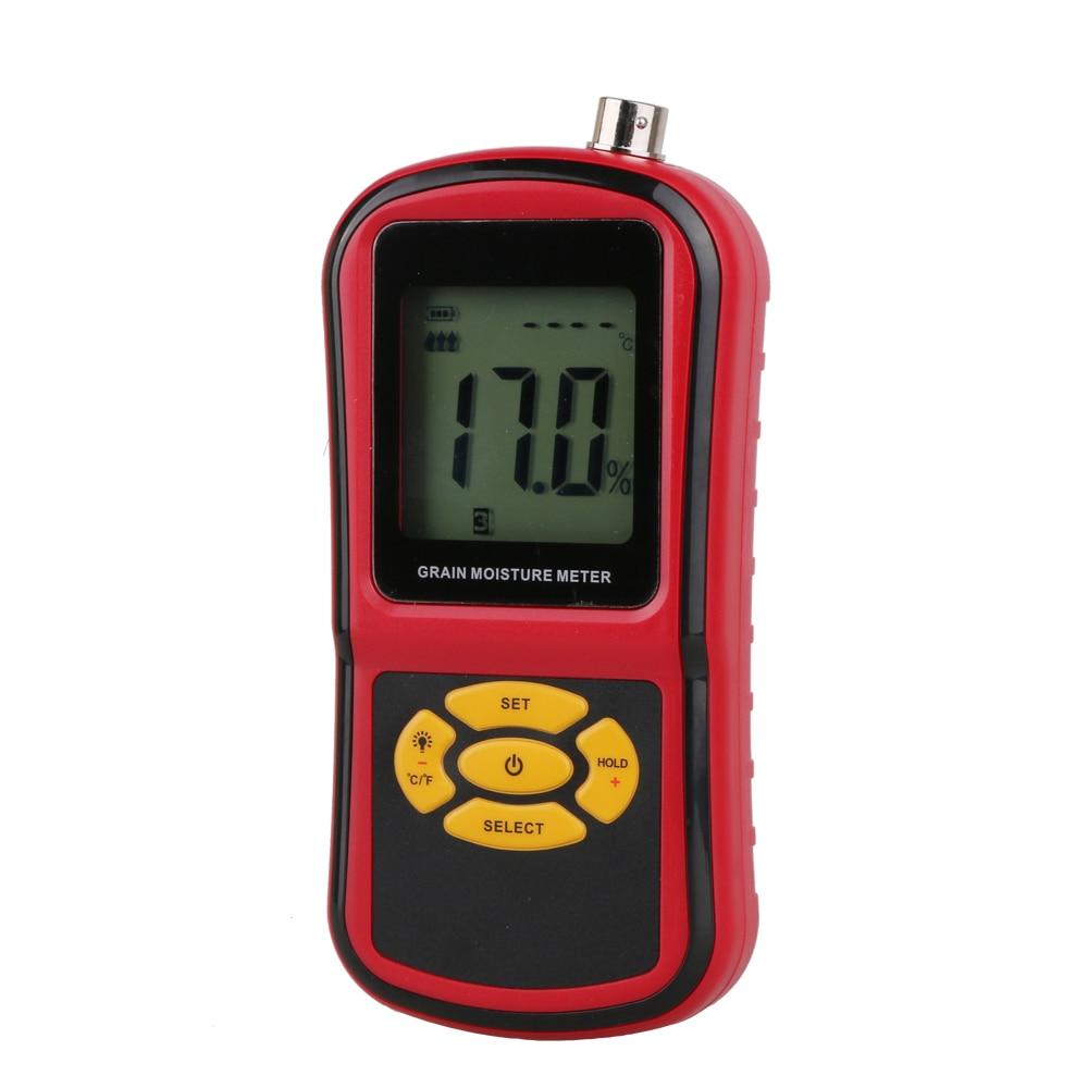 Digital LCD Grain Moisture Meter GM640 with Measuring Probe Tester for Corn Wheat Rice Bean Wheat Hygrometer Moisture Instrument