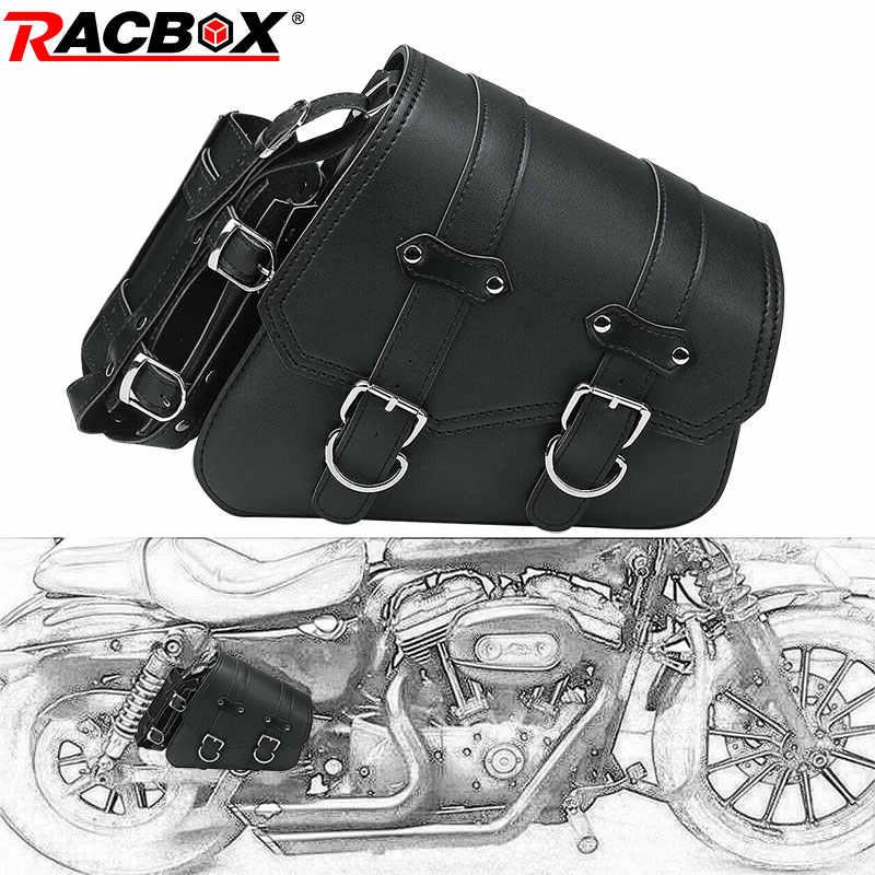 Универсальный черный из искусственной кожи мотоцикл седельная сумка инструмент багаж боковое седло сумка для Harley Sportster XL 883