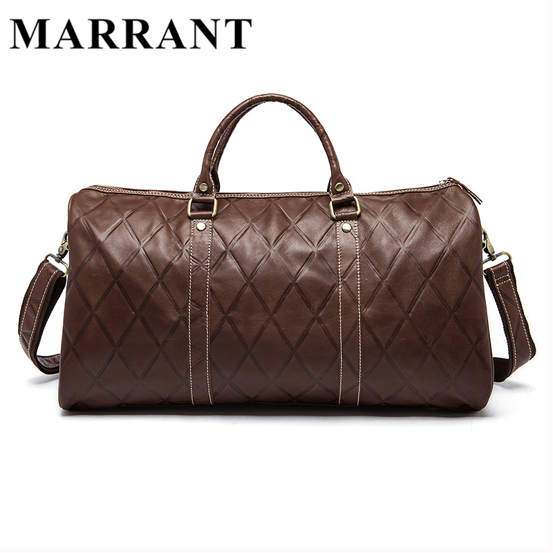 MARRANT Genuine Leather Men Travel Bag Men Leather Big Travel Handbag Luggage Crossbody Shoulder Handbag Men Duffle Bags 1096